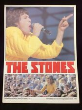 "Authentic THE ROLLING STONES 1981 12.5"" Concert Insert POSTER Philadelphia 1981"