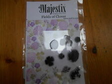 New Card-io Majestix Clear Stamps Peg Stamps Fields of Clover