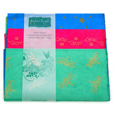 Fair Trade Lokta Paper Three Sheet Gift Wrap Pack GWP73