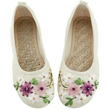Women's Casual Canvas Mary Jane Fashion Floral Shallow Embroidered Flower Shoes