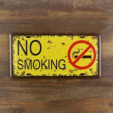 No Smoking Metal Sign Tin Plate- 30x15cm