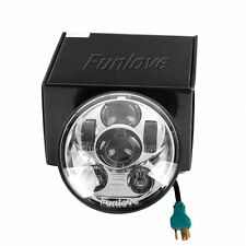 New 5-3/4 5.75 Inch Daymaker Projector LED Headlight for Harley Davidson Silver