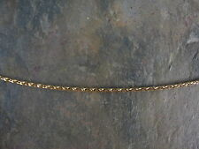 "14 KT Yellow Gold Weave Braid Neck Wire Omega Chain Necklace 17"" Mesh Collar NEW"