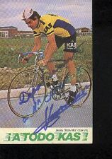 JESUS SUAREZ CUEVA cyclisme ciclismo Autographe KAS