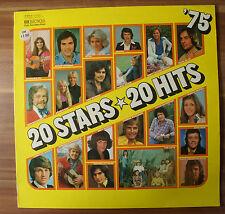 """12"""" LP Vinyl 20 Stars 20 Hits von 1975 , Gitte Adamo Carpendale uvm..."""