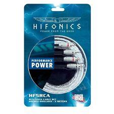 HIFONICS HF5-RCA Cinchkabel 5 m Hochwertiges Cinch-Stereokabel doppelt geschirmt