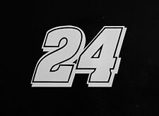 (2) # 24 Jeff Gordon Racing Vinyl Die Cut Decal Nascar Sticker 5""