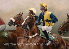 Horse Racing, equestrian ltd edition fine art print by Emily Charlesworth