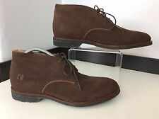 Hugo Boss Men's Desert Boots, Uk 8 Eu42, Brown Suede, Ankle, NEW, RRP £200