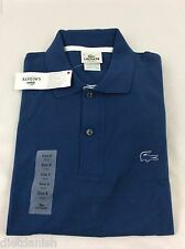 Lacoste Men's Polo Shirt Brand New with Tags Blue Encrier Blanc Size EU 6 US L