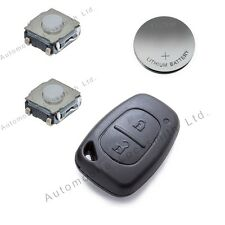 Repair KIT for Renault Traffic Kangoo 2 button remote key battery switches shell