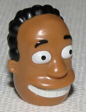 Lego New Yellow Minifig Head Modified Simpsons Dr. Hibbert with Black Hair