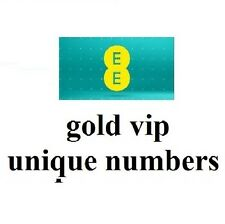 gold vip easy to remember unique numbers on EE network
