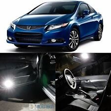 2012-2014 Civic Coupe High Power White LED Light Bulbs Interior Package Kit