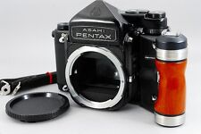 【Excellent +++】 Pentax 67 6×7 Camera Body W/ Wood Grip,Strap from japan #1793