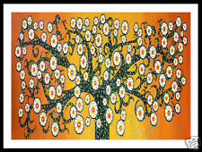 A1 FOR FRAME aboriginal art tree of life orange landscape print jane crawford