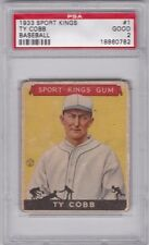 1933 Goudey Sport Kings #1 TY COBB PSA 2 VG Detroit Tigers Vintage Baseball Card
