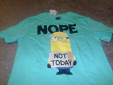 Despicable ME Mens SK Minions Not Today Funny Green T-Shirt Size Medium M