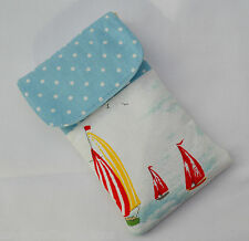 Phone cover Cath Kidston Fabric Padded mobile case Handmade sleeve fabric pouch