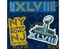 SUPER BOWL XLVIII GIANT MAGNET SHEET DENVER BRONCOS vs SEATTLE SEAHAWKS NYC & NJ