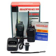 Baofeng BF-888S Walkie Talkie 2-way Radio Interphone UHF 5W 400-470MHz 16CH Blac