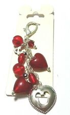 Disney Parks Exclusive Red and Silver Mickey Head & Stones Purse Bag Charm Tag