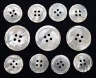 White Mother Of Pearl (MOP) Buttons Set For Suit, Blazer, or Sport Coat