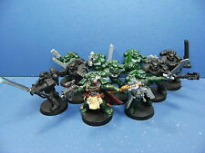9 Dark Angels Marines + Commander der Space Marines