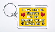 I May Not Be Perfect But My Border Collie Loves Me Keyring, Ideal Present/Gift