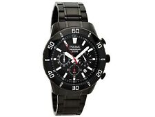 PULSAR MEN'S NEW BLACK ION PLATED CHRONOGRAPH BRACELET WATCH PT3367X1