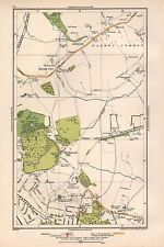 1933 londres carte-arkley, barnet gate, Highwood hill, mill hill