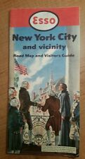 Vintage 1952  ESSO Map of NEW YORK CITY and VICINITY Road Map & Visitors Guide