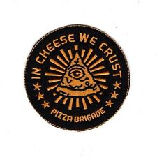 PIZZA ROCK BAND CHEESE Embroidered Patch Iron Sew Logo Hardcore Emblem Custom