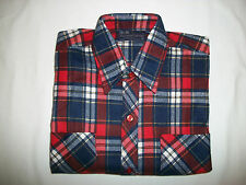 Raymond Chemise Men's Casual Dress Long Sleeve Plaid Shirt - Size M