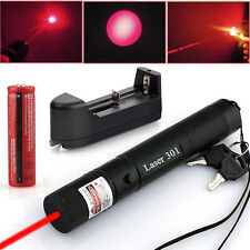 10 Miles 650nm Laser Pointer Pen Power G301 Red Light Lazer Battery&Charger LN