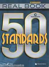 REAL BOOK - 50 STANDARDS - linea melodica e testi per strumenti in DO