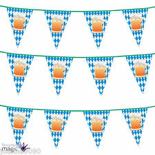 *6m Oktoberfest Bavarian German Beer Party Pub Bunting Flags Banner Decoration*