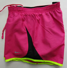 Women's NIke Running Short, New Pink Black Neon Green Style 573728 Sport Short S