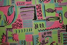 Multicolor Abstract Shells Print #1 100% Cotton Twill Apparel Sewing Fabric BTY