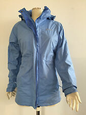 Womens 'Mountain Warehouse' Outdoor Hooded Rain Coat / Jacket - Blue Size 8