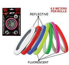 NEW PROGRIP DETAILING WHEEL TAPE PINSTRIPE MOTORCYCLE WHITE REFLECTIVE BE SEEN