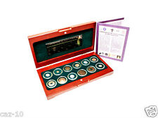 Religions Of The Ancient World: 12 Coins In Beautiful Wood Presentation Box