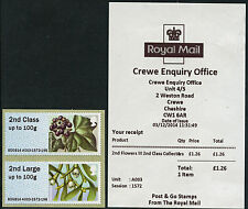 CREWE WINTER GREENERY RM SERIES 2 A003 3 DEC FIRST DAY 2nd CL COLL SET POST & GO
