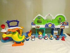 FISHER  PRICE  LITTLE  PEOPLE   ANIMALVILLE AIRPORT  &  TOWN  CENTER