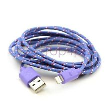 CABLE CHARGEUR IPHONE 5 6 USB RENFORCÉ VIOLET 8PIN SYNCRO LIGHTNING IPOD IPAD 1M