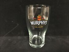 Murphy's Irish Stout Beer 16 oz Tulip Pint Glass CORK IRELAND ~~~ NEW