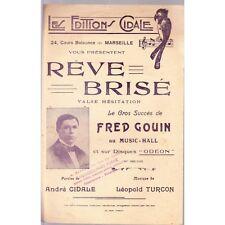REVE BRISE valse hésitation / GOUIN paroles A. CIDALE musique Léopold TURCON