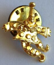 Jolly Clown Small Gold Style Pin Brooch Rare Vintage (H5)