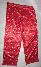 Old Navy Womens Red Silky Holiday Christmas Ornaments Pajama Lounge Pants - M