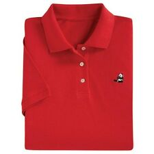 Panda Red Polo TEE LADYS SZ L WASHABLE National Wildlife Fed NEW see pic REG $60